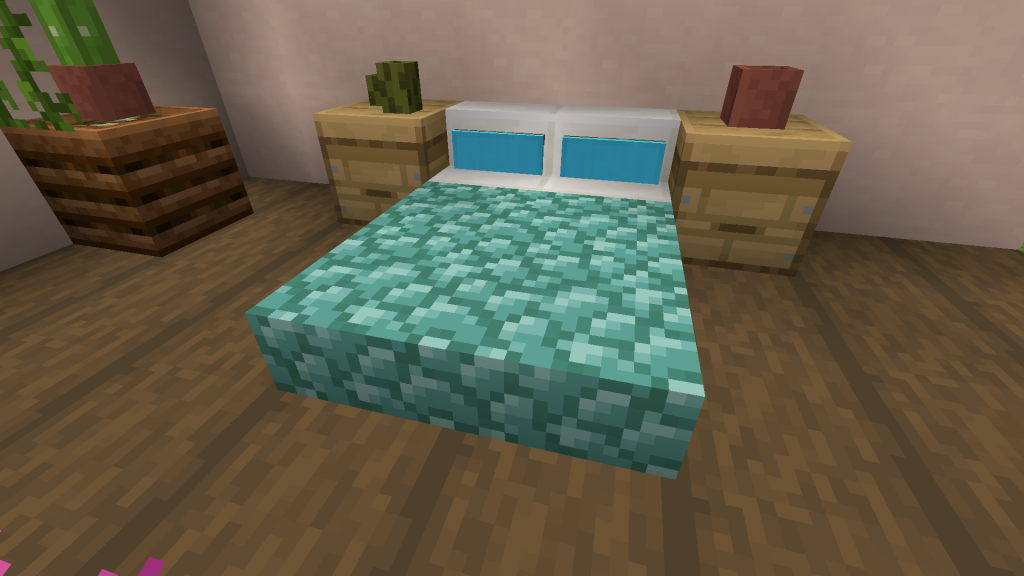 Bed With Pillows Minecraft Furniture