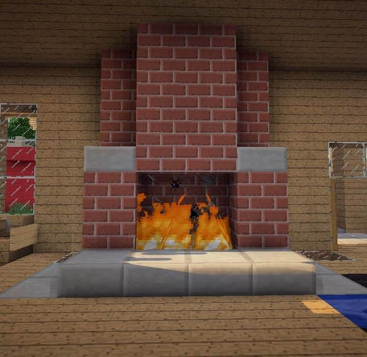 Solid Fireplace - Minecraft Furniture