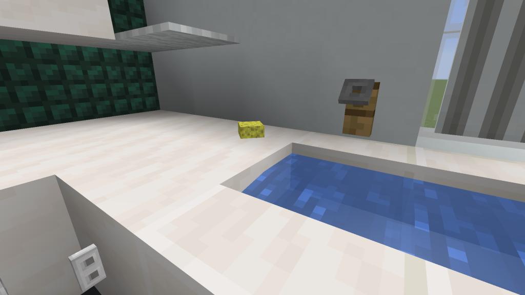 Minecraft Dish Sponge Design Using Invisible Item Frames.