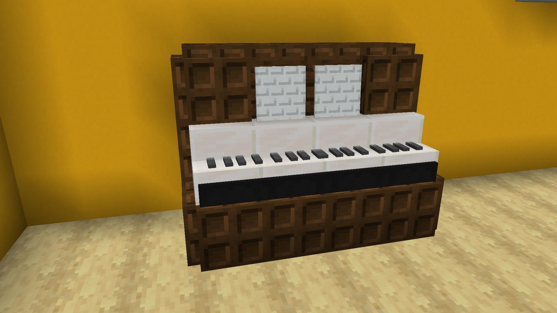Upright Piano Minecraft Furniture