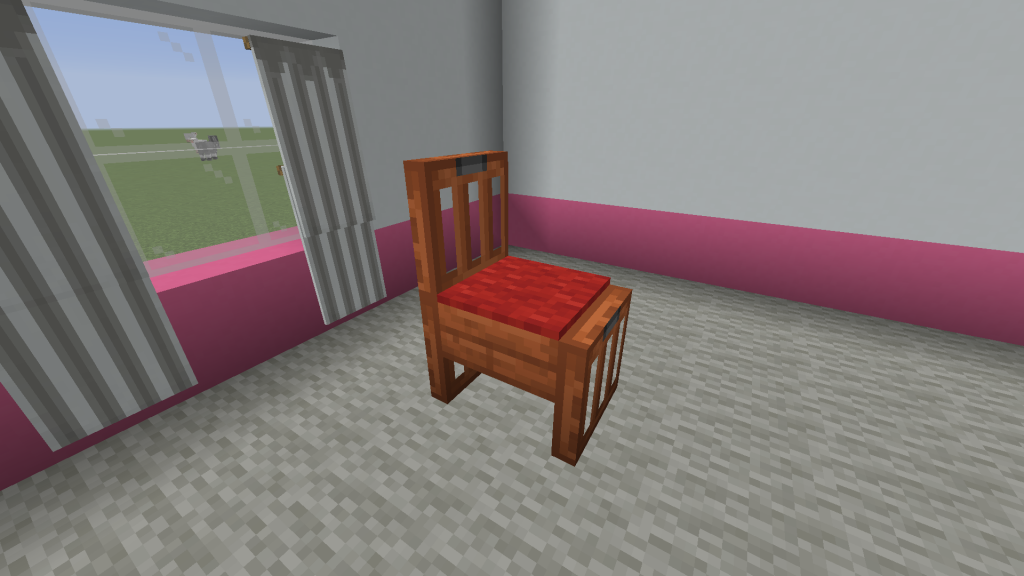 Minecraft Slab Chair Design