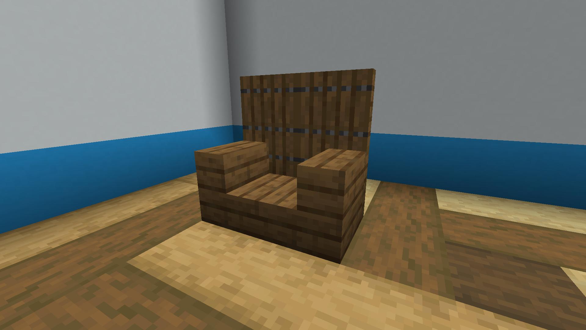 Trapdoor Stair Chair Minecraft Furniture