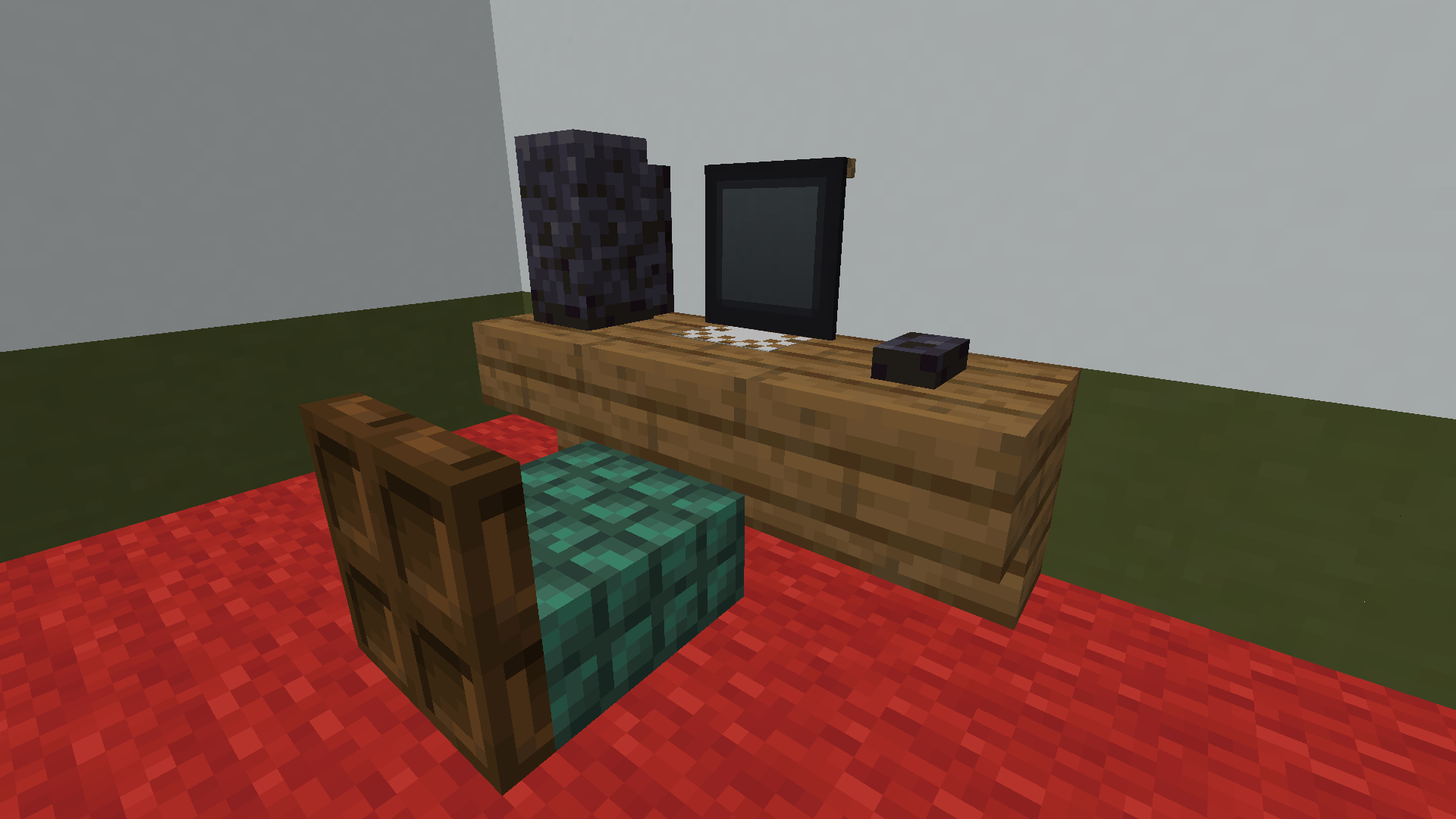 Desktop Computer With Desk Minecraft Furniture