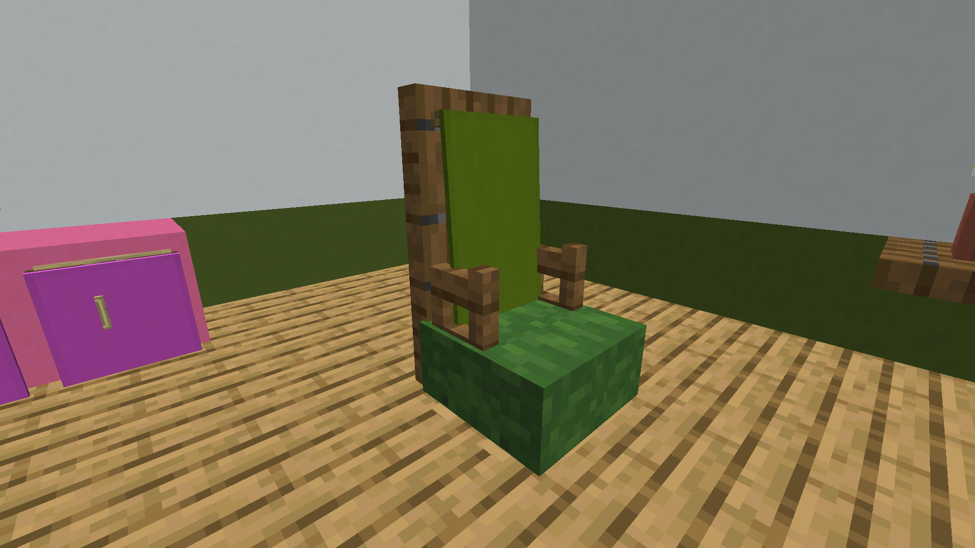 Chair with Armrests - Minecraft Furniture