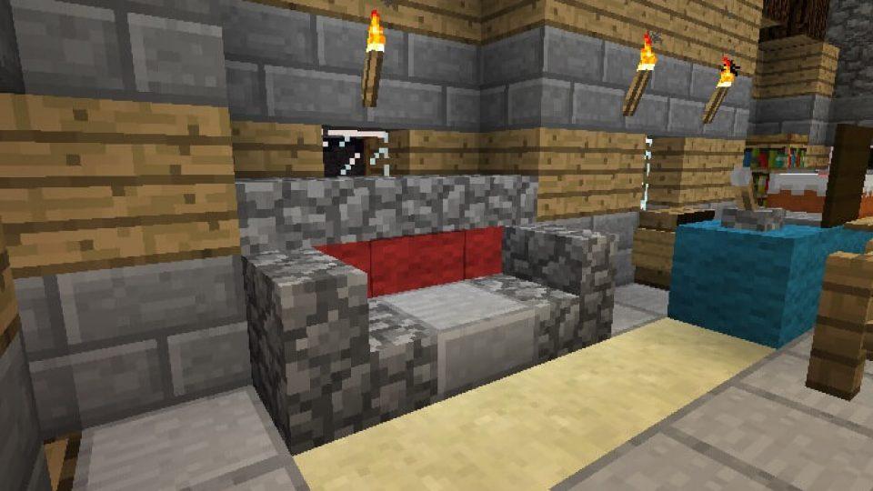 Minecraft Couches & Seating Designs - Minecraft Furniture