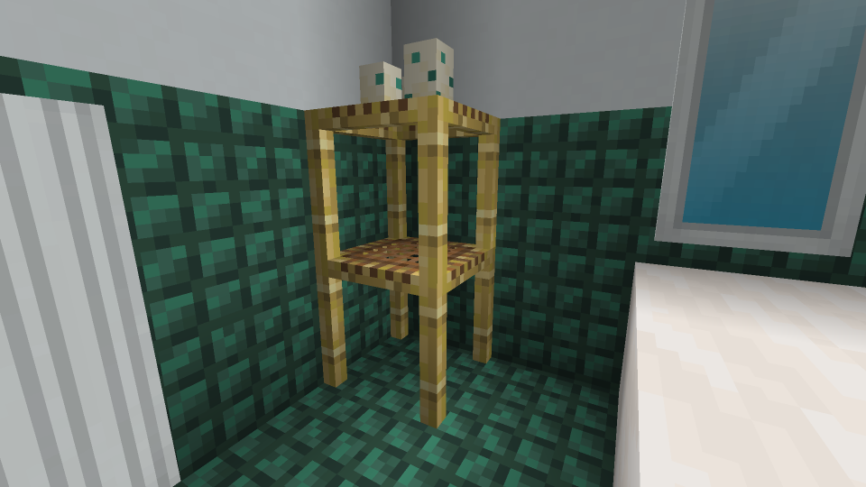 Minecraft Bathroom Shelving