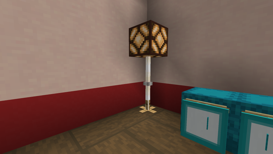 Minecraft Floor Lamp with Stand