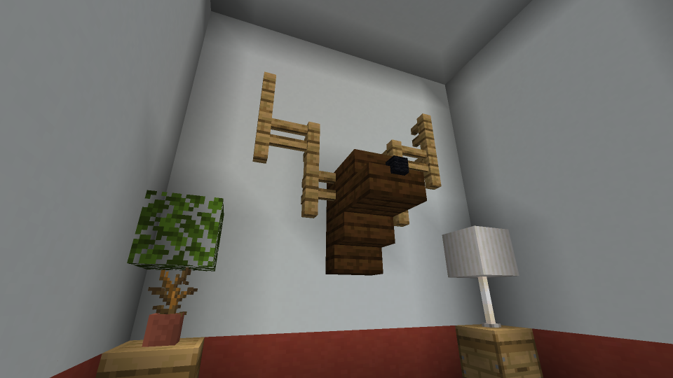 Minecraft-Mounted-Elk-Head