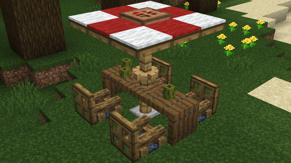 Minecraft Picnic Table Design