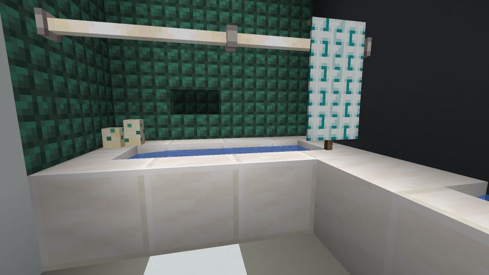Mincecraft Shower Curtain using Banner