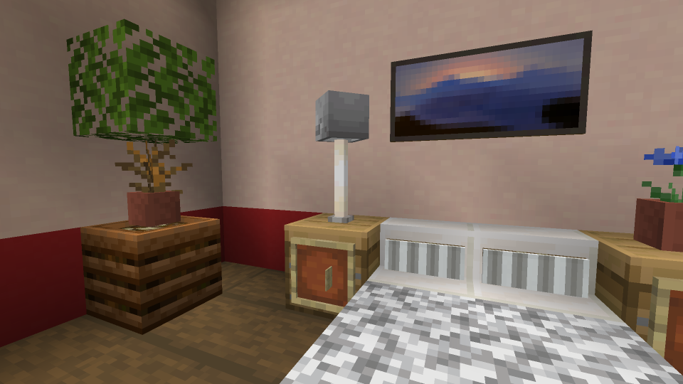 Minecraft Lamp using Skeleton Skull and End Rod
