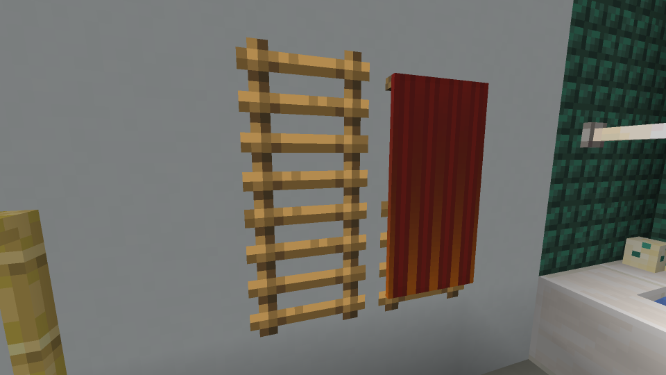 Minecraft Towel Rack