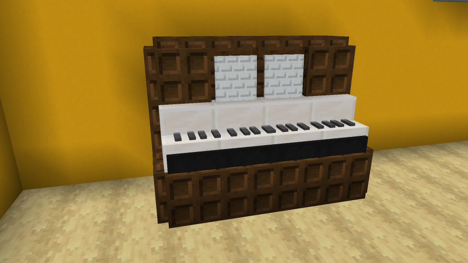 Minecraft Piano Design