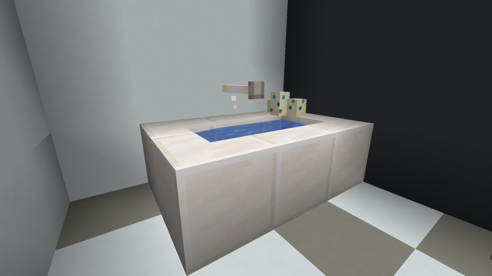 Minecraft Sink Design