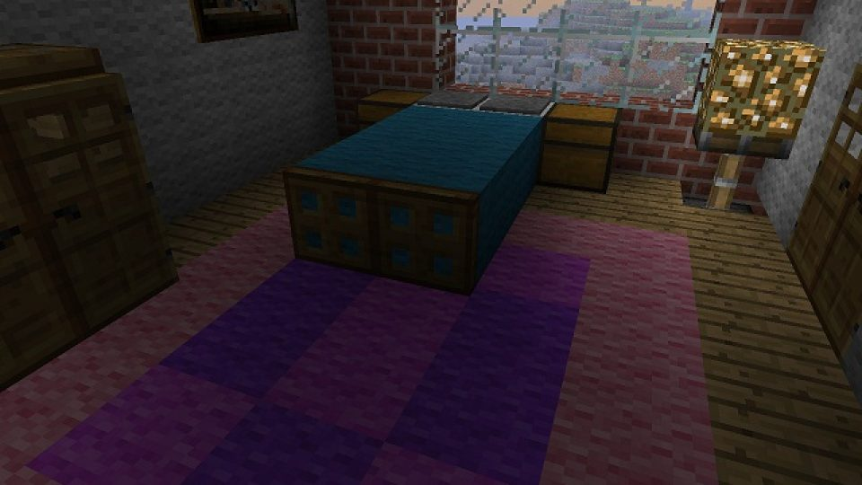 Minecraft Simple Bed Design