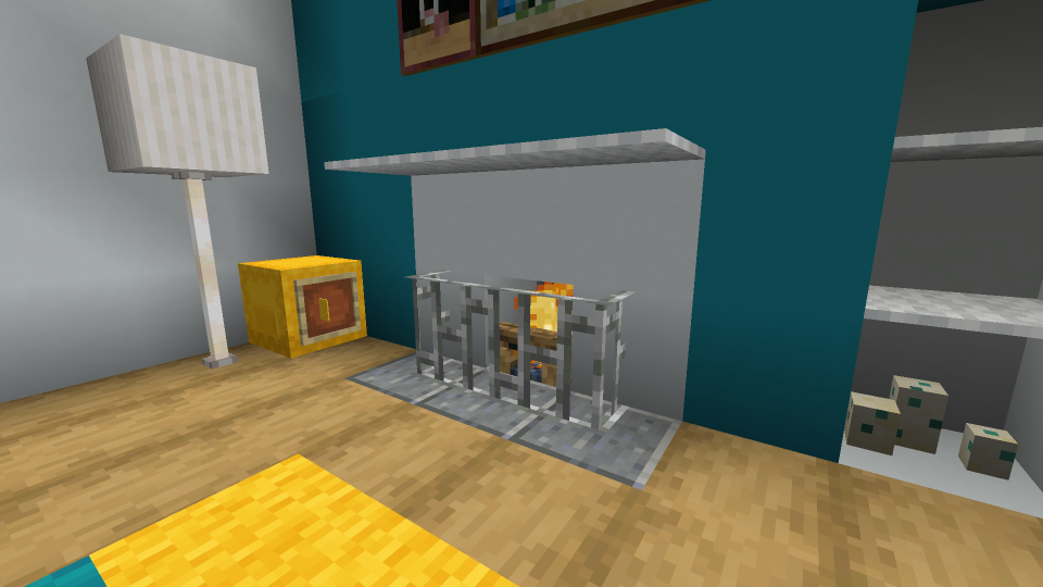 Minecraft Modern Fireplace